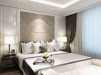 现代卧室场景图