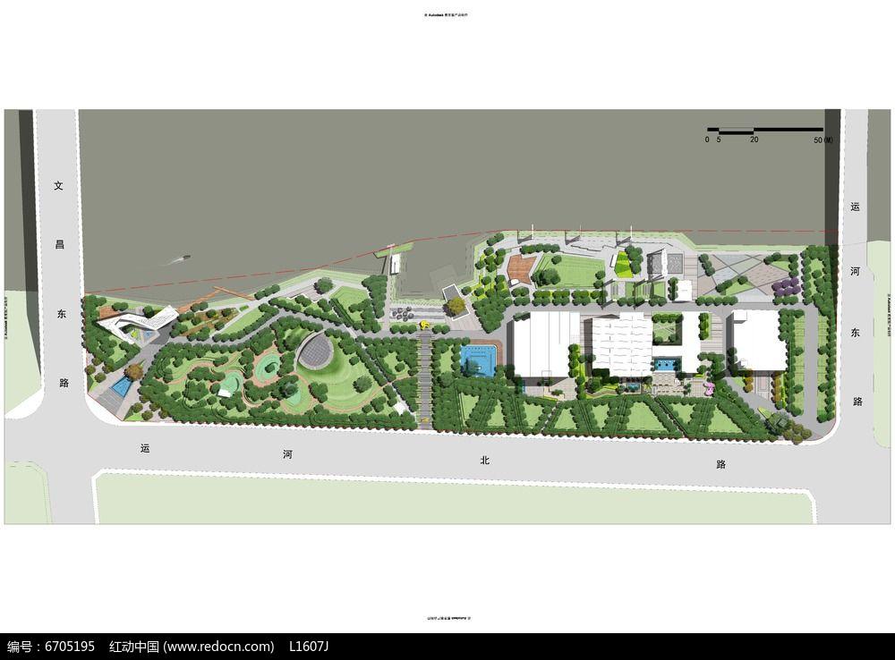 办公区景观设计平面图ps素材图片