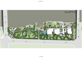 办公区景观设计平面图PS素材