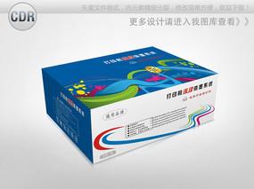 炫彩简约打印机连供墨盒包装设计 CDR
