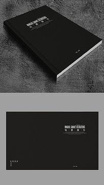 厨饰画册黑色封面设计