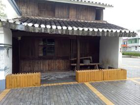 仿古木墙建筑立面装饰