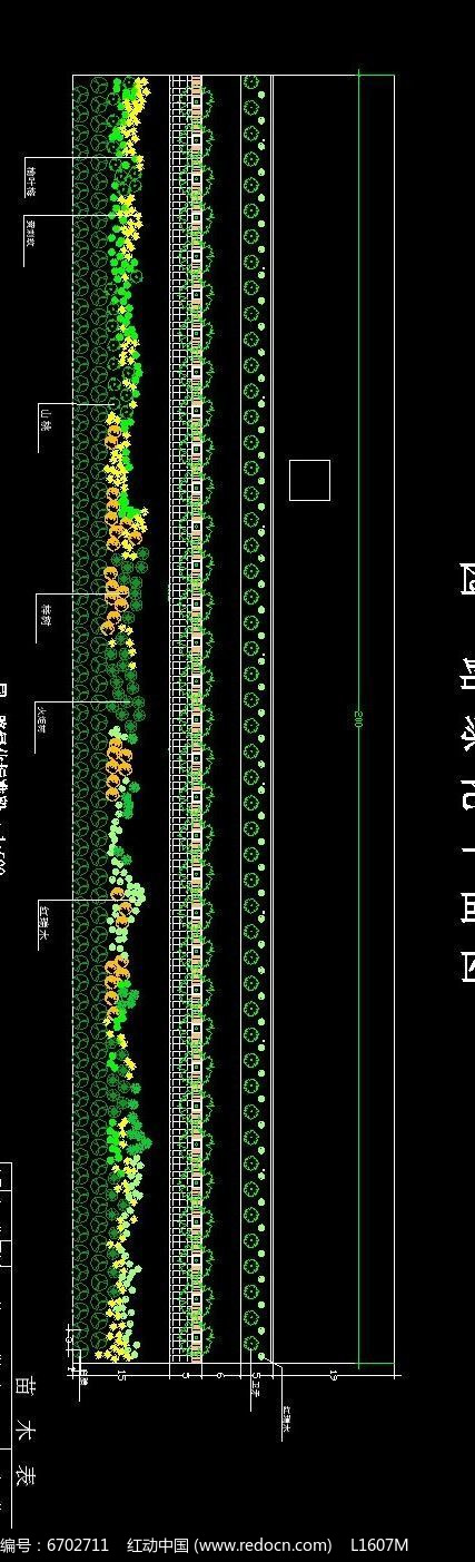 公路绿化设计平面图
