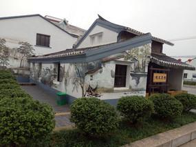 徽派建筑风格立面墙绘