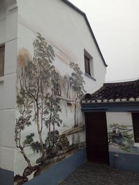 建筑一角的手绘意向图