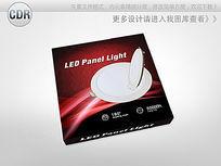 炫酷红黑背景LED天花灯包装 CDR