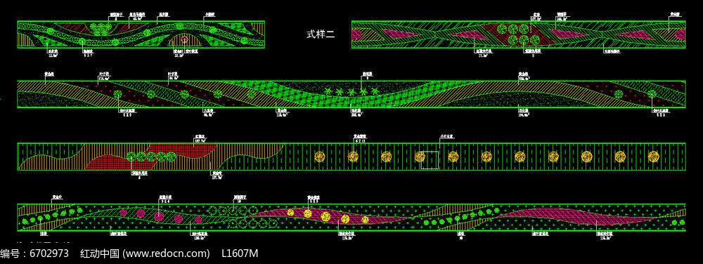 市政道路绿化大样图dwg素材下载 编号6702973 红动网