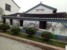 斜坡顶建筑墙面