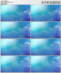 唯美蓝色烟雾视频素材