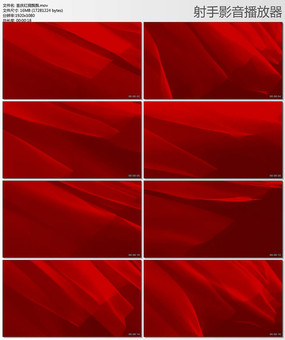 喜庆红绸飘飘红旗飘飘视频素材 mov
