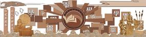 校园文化墙浮雕图片