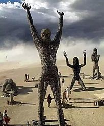 祈祷人物雕塑小品