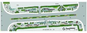 现代商业区规划设计彩色平面