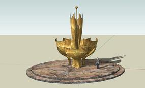 小品景观雕塑SU模型
