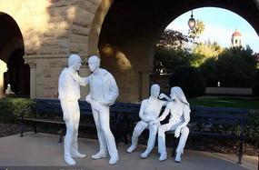 校园人物雕塑小品