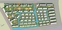 住宅小区景观设计彩色平面素材