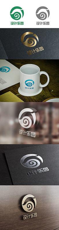 大气形象组合字母负空间Logo
