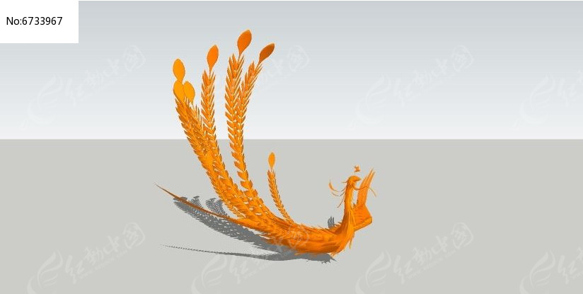 凤凰skp素材下载_人物|动物模型设计图片