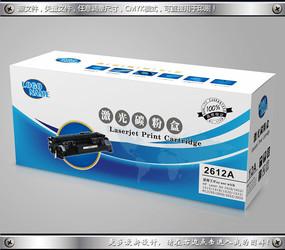 激光碳粉盒包装彩盒素材 CDR