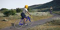 骑自行车的人 skp