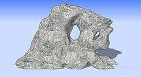 3D景观石头 skp