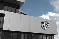 大气公司外墙大型企业LOGO标志展示样机