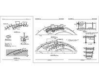 钢制弧形廊架