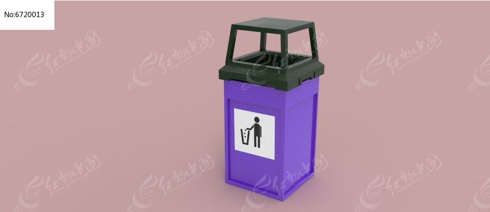 垃圾桶3d模型图片