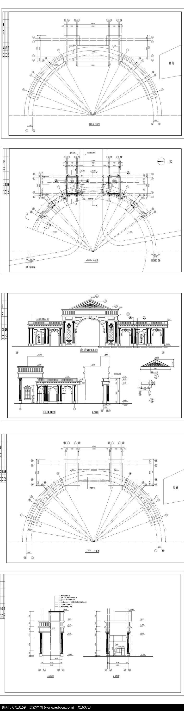 欧式罗马风格住宅大门
