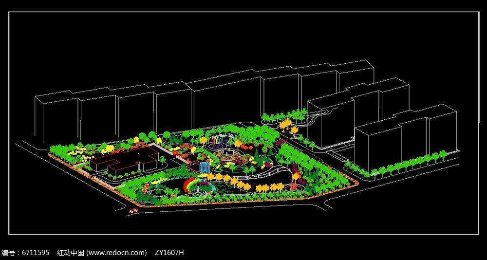 月牙广场绿地设计