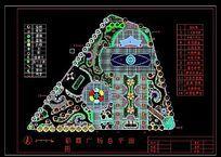某公园广场平面设计图