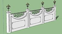 欧美风格白色围墙