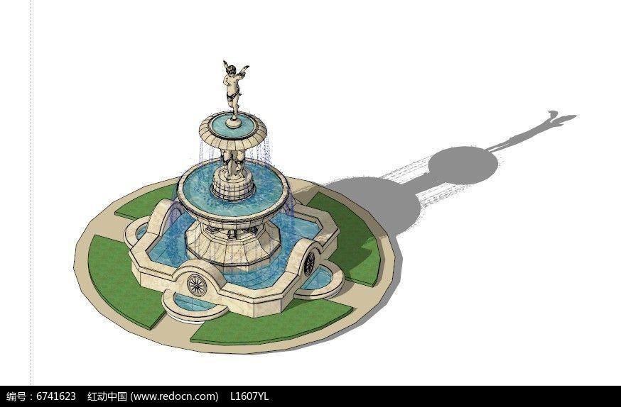 欧式景观喷泉图片