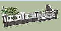 欧式新古典主义风格装饰景墙