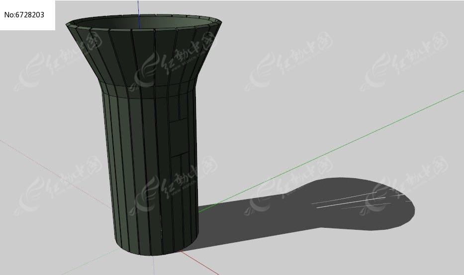 圆形大开口垃圾桶图片