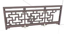 中国古典花纹围栏