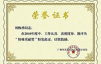 简约淡黄底纹荣誉证书素材