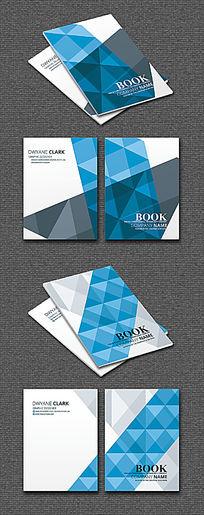 现代建筑蓝色企业几何封面