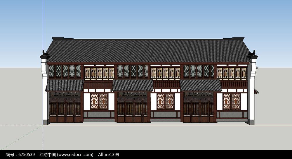 中式商铺建筑图片
