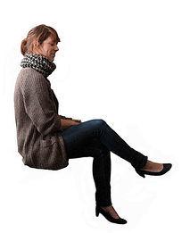 高清人物素材平视女人二郎腿