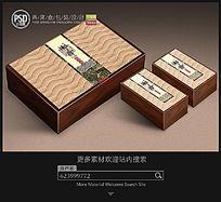 古典燕窝盒包装设计平面分层图片素材