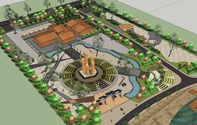 公园设计效果图模型