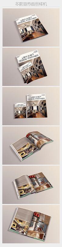 六款多角度画册杂志展示样机