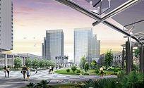 绿化广场 景观 效果图 PSD