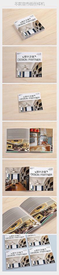 七款方形多角度画册杂志展示样机