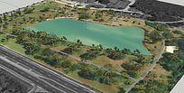 生态公园湖泊景区