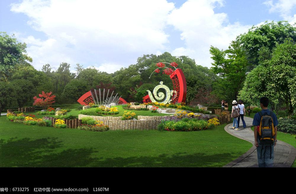 公园景观建筑3D效果图图片