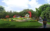 公园景观建筑3D效果图