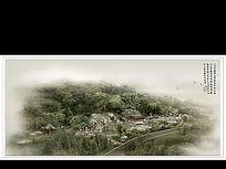 公园溪水水景景观效果图
