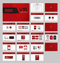 红色vi视觉应用设计
